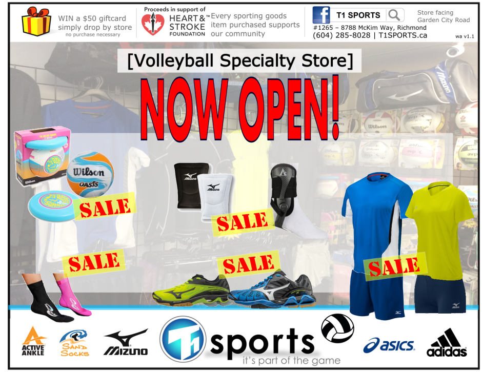 T1 SPORTS Volleyball Specialty Store - Volleyball Shoes, Kneepads, Bags, Socks, Ankle Braces, Apparel