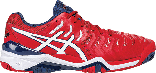 T1 SPORTS Asics Resolution 7 Red