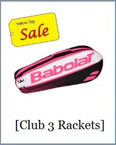 Babolat Racket Holder x3 Club Pink White