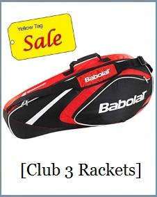 Babolat Racket Holder x3 Club Red