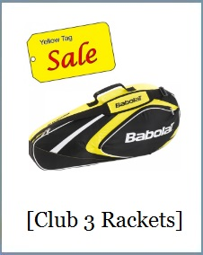 Babolat Racket Holder x3 Club Yellow
