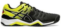 Asics Gel Resolution 7 Black Yellow Tennis Shoes
