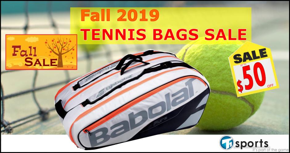 T1 SPORTS Fall 2019 Tennis Bag Sale